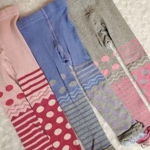 3 pair of girlie girl tights!